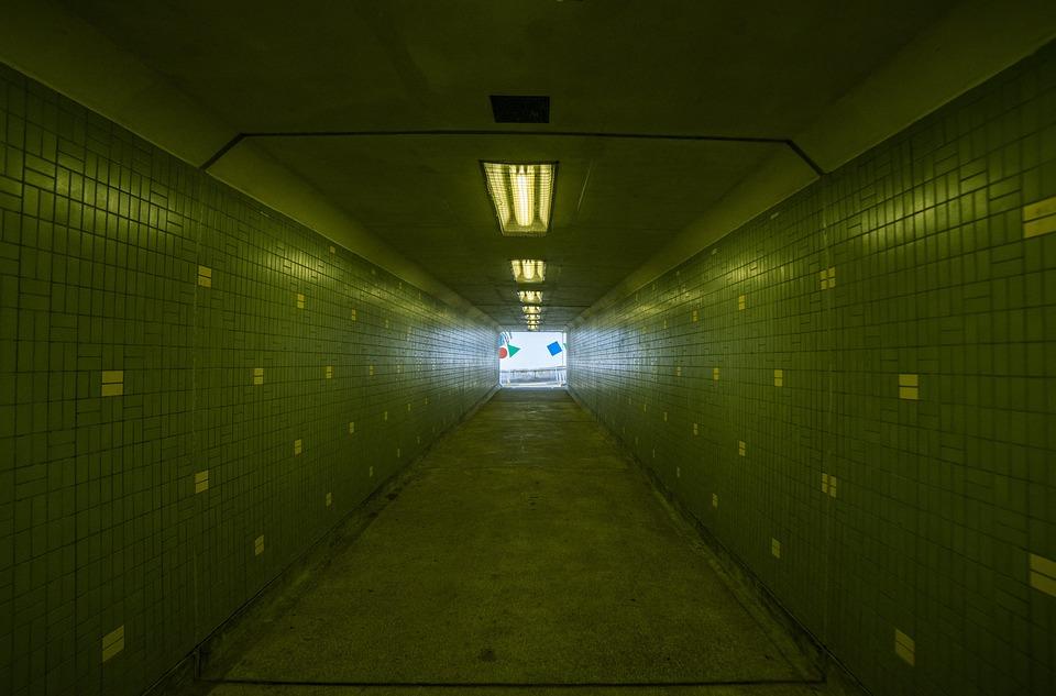 Light, Metro, Tunnel, Airport, Dark, Illuminated