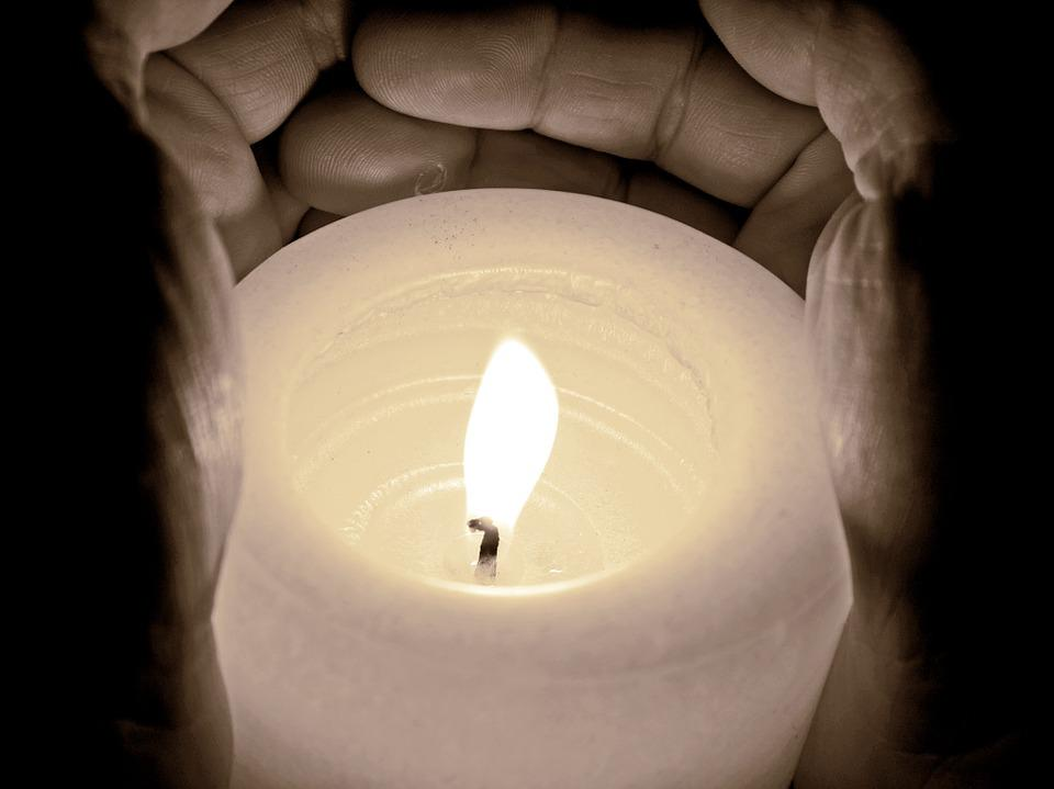 Candle, Light, Burn, Flame, Dark, Hands, Protection