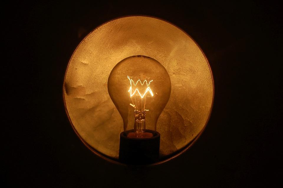 Light Bulb, Light, Dark, Lighting, Glow