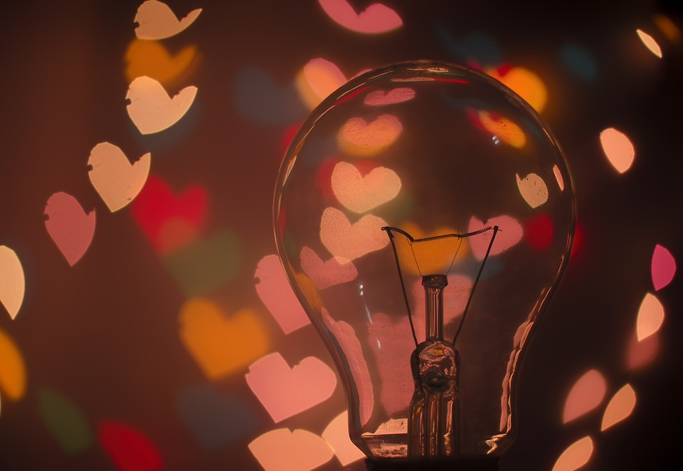 Bulb, Dark, Hearts, Lights, Macro