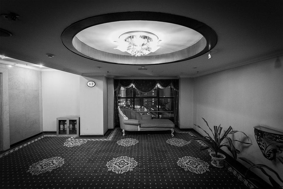 Hotel, Old, Dark, Lobby, Hotel Lobby, Vintage
