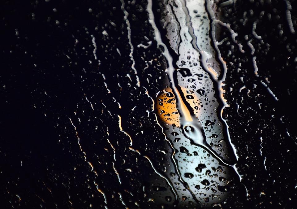 Water, Reflection, Night, Dark, Poster, White, Orange