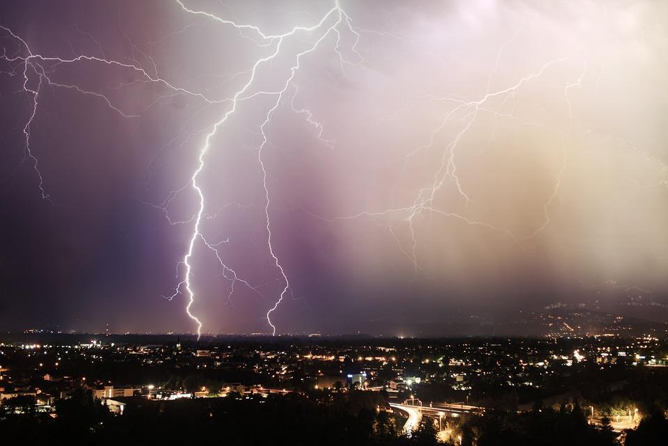 Lightning, Night, Dark, Sky, Storm, Thunderstorm
