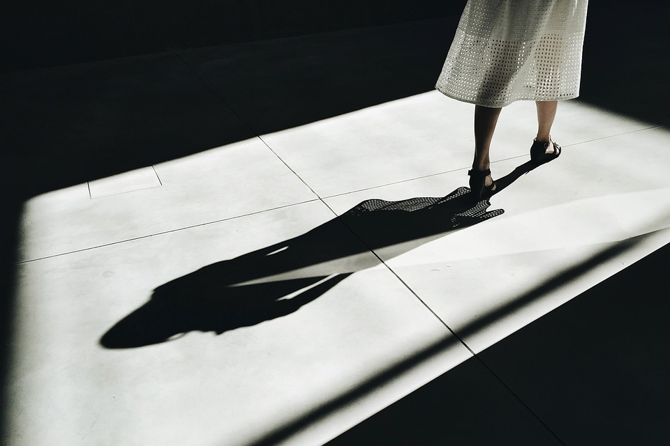 People, Woman, Shadow, Legs, Dark