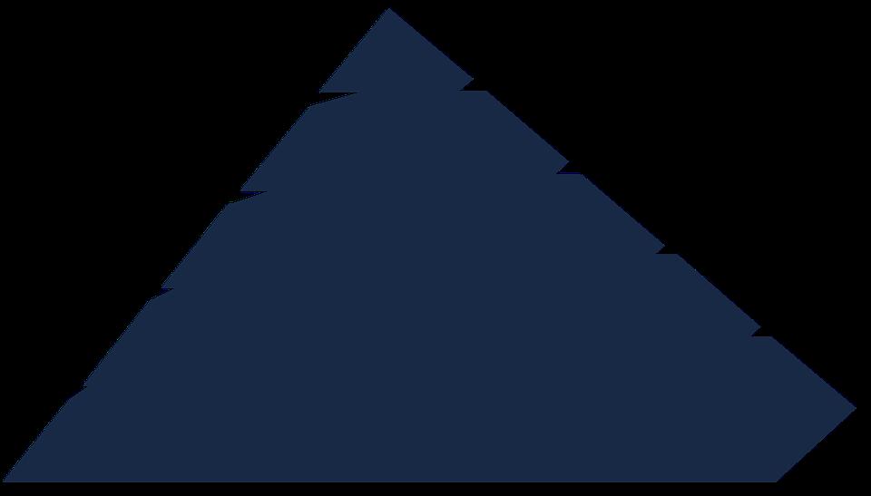 Pyramid, Layers, Blue, Dark