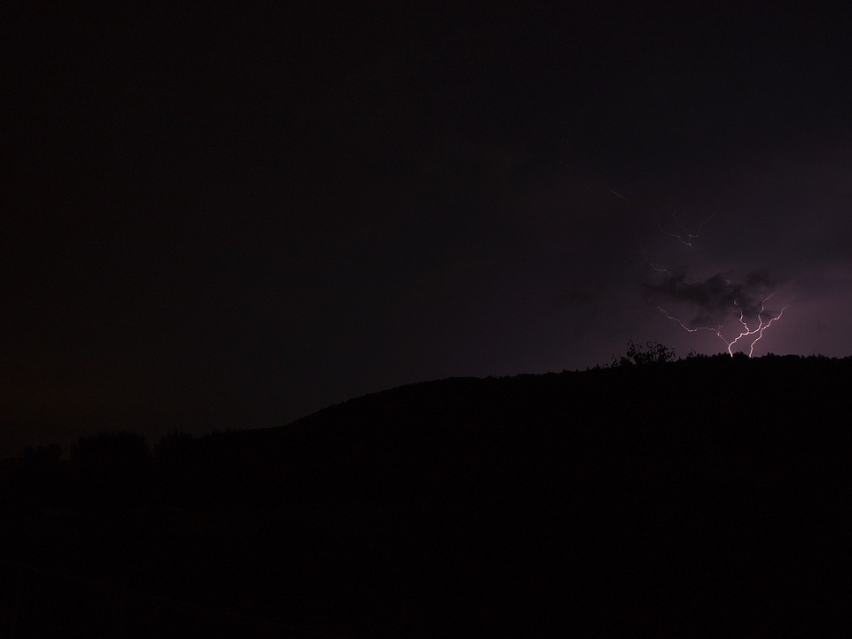 Flash, Dark, Clouds, Storm, Flash Of Lightning
