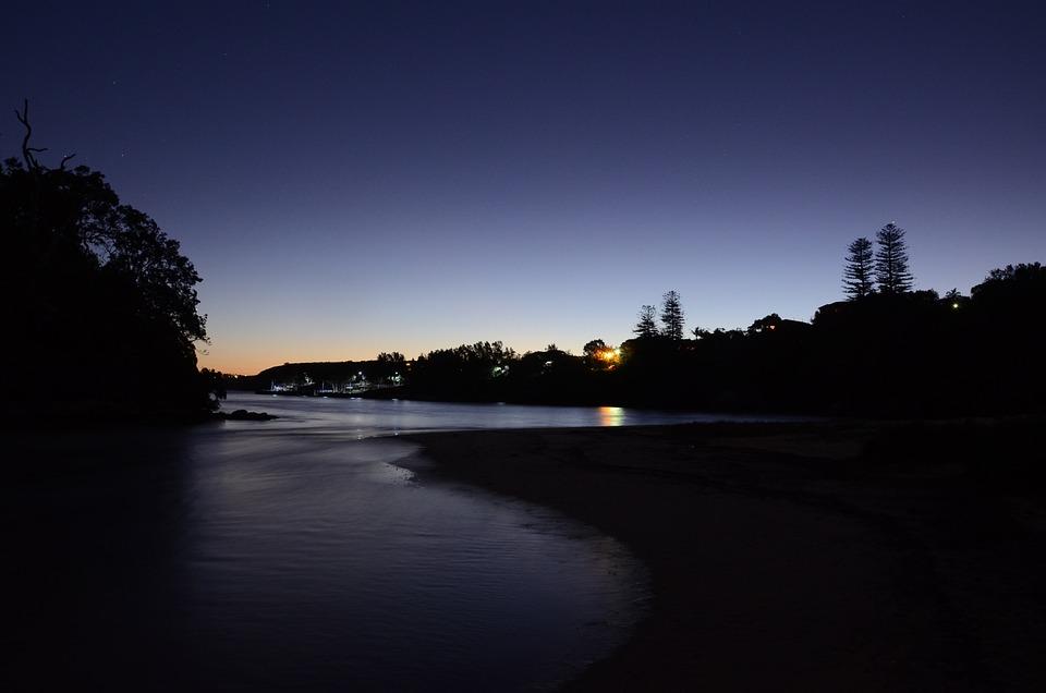 Manly, North, Head, Collins, Beach, Night, Sunset, Dark