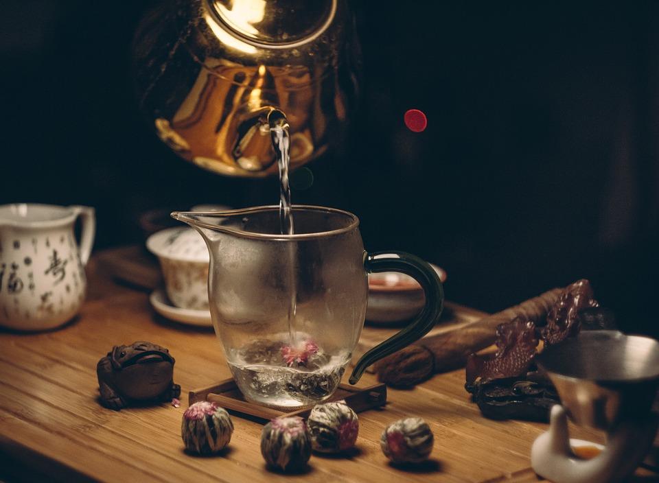 Breakfast, Tea, Cup, Dark, Drink, Food, Hot, Kettle