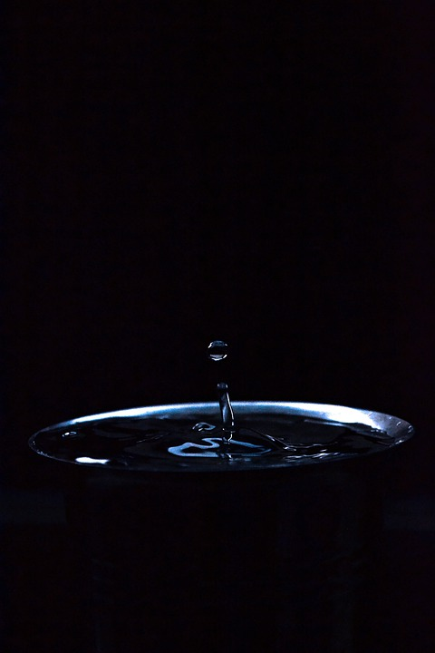 Water Drop, Drop, Water, Black, Dark, Sri Lanka, Freeze
