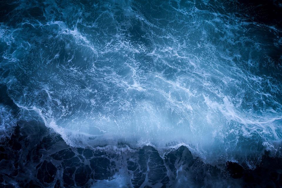 Dark, Ocean, Sea, Water, Wave, Blue Water, Blue Sea