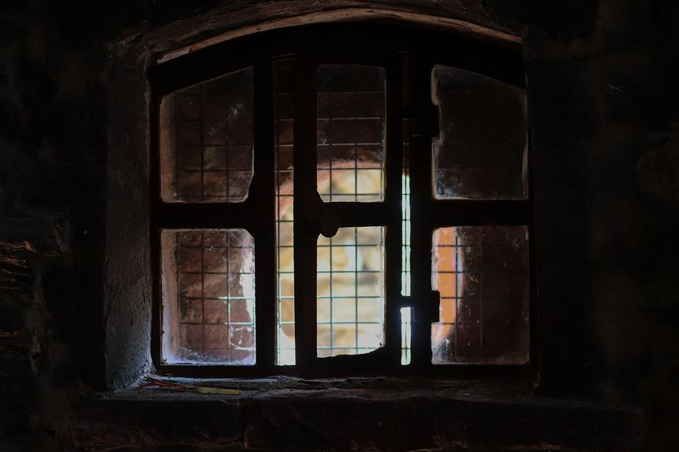 Window, Masonry, Basement, Light, Dark, Window Opening