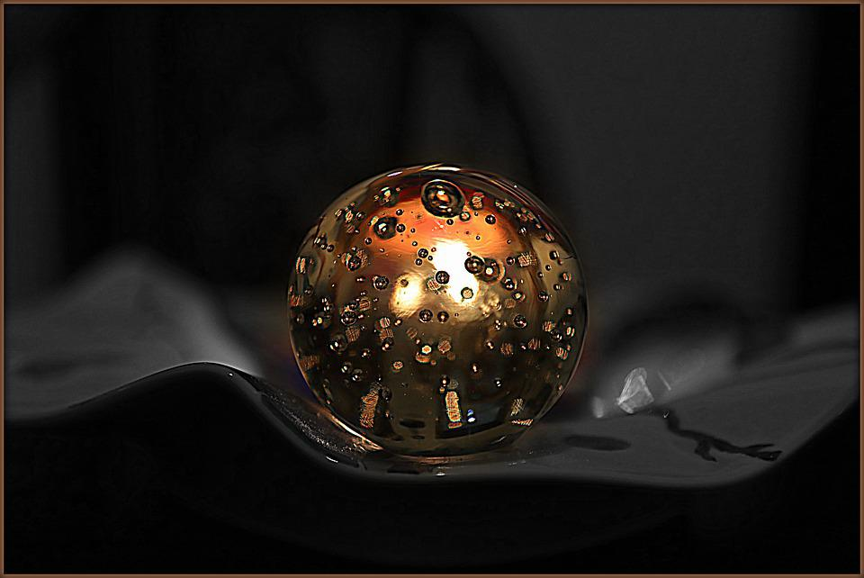 Darkness, Deco, Crystal Ball, Candle, Light