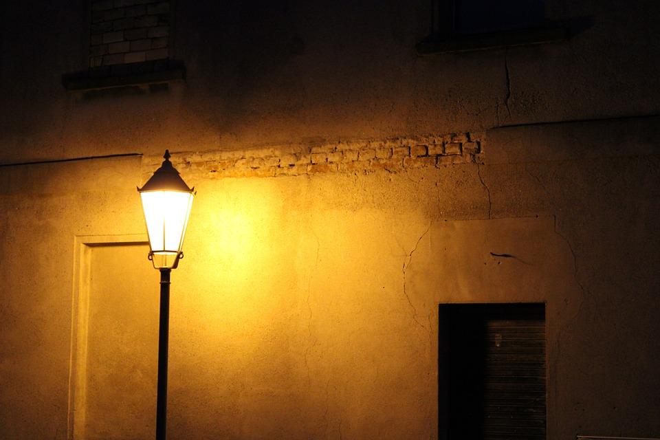 Darkness, Lantern, Hauswand, Light, Lighting, Night
