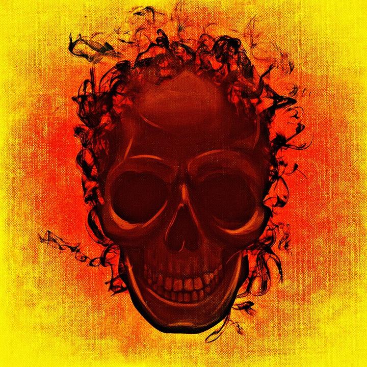 Skull And Crossbones, Creepy, Darkness, Mystical