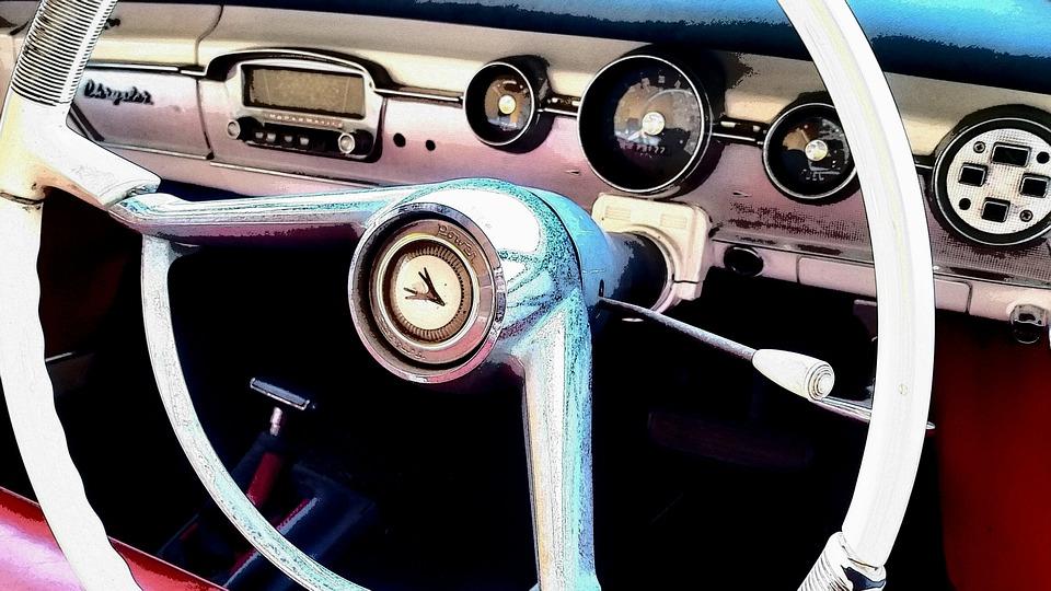 Chrysler, Classic Car, Vintage Car, Dashboard, Steering