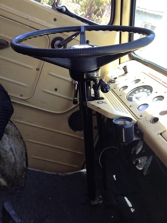 Steering Wheel, Steering Column, Dashboard