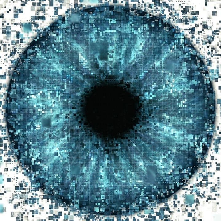 Eye, Pixelated, Data