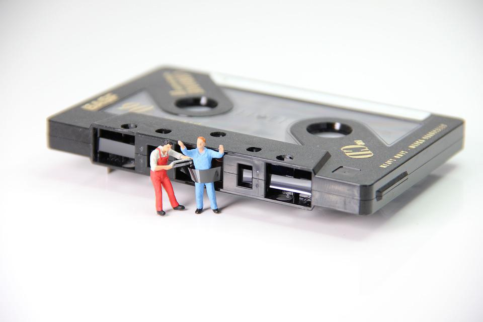 Cassette, Caught, Miniature Figures, Data, Computer
