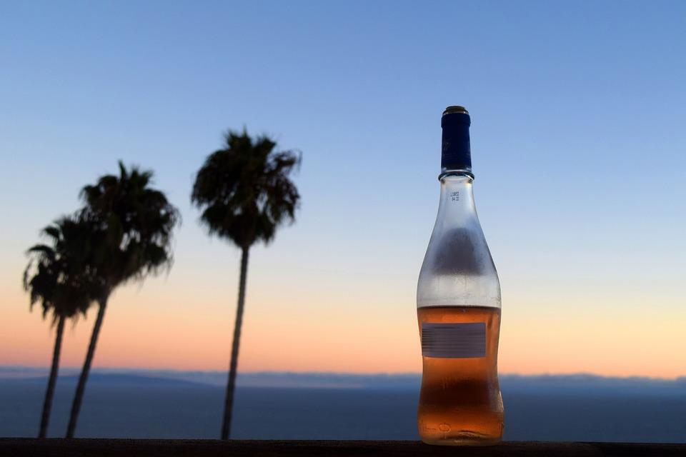 Wine, Evening, Drink, Date, Landscape, Honeymoon