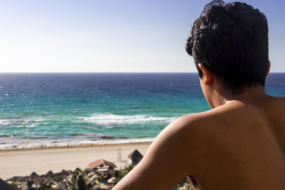 Beach, Guy, Sea, Dawn, Summer, Beauty, Portrait