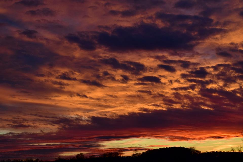 Sunset, Dawn, Nature, Panorama, Dusk, Clouds