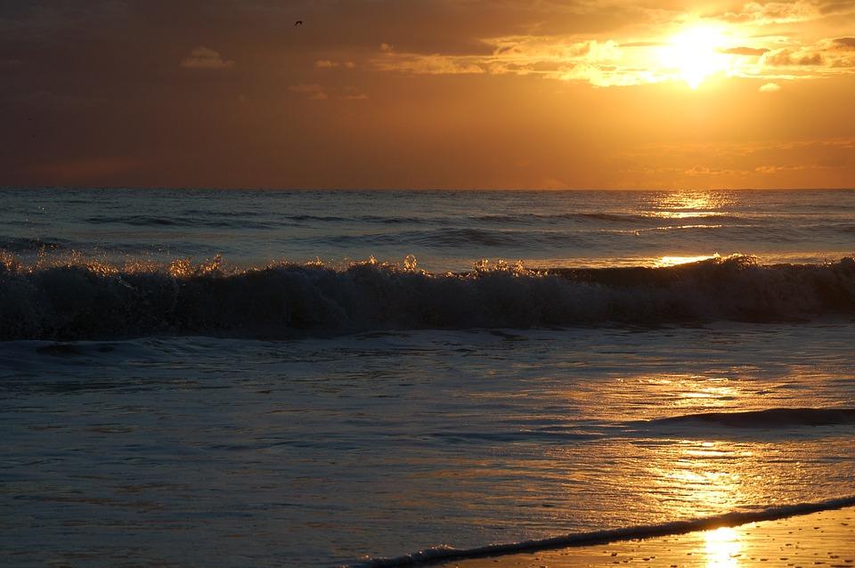 Sunset, Dawn, Body Of Water, Sun, Golf, Coast, Zealand
