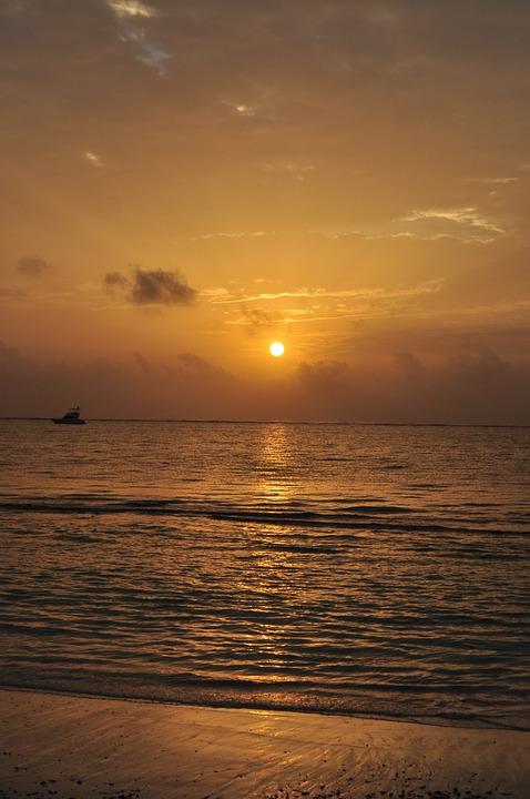 Sunset, Waters, Dawn, Sun, Dusk, Sea, Beach, Ocean, Sky