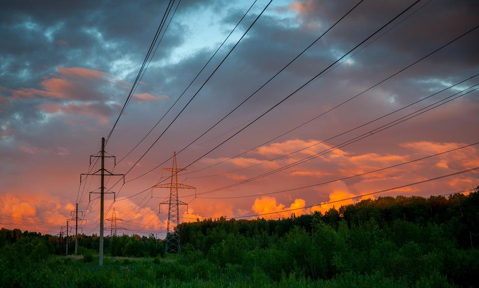 Electricity, Industry, Power, Energy, Sky, Dawn