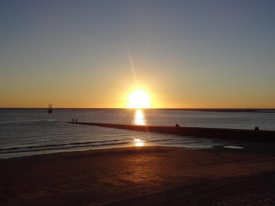 Sunset, Sun, Waters, Dawn, Dusk, Evening, Sky, Beach
