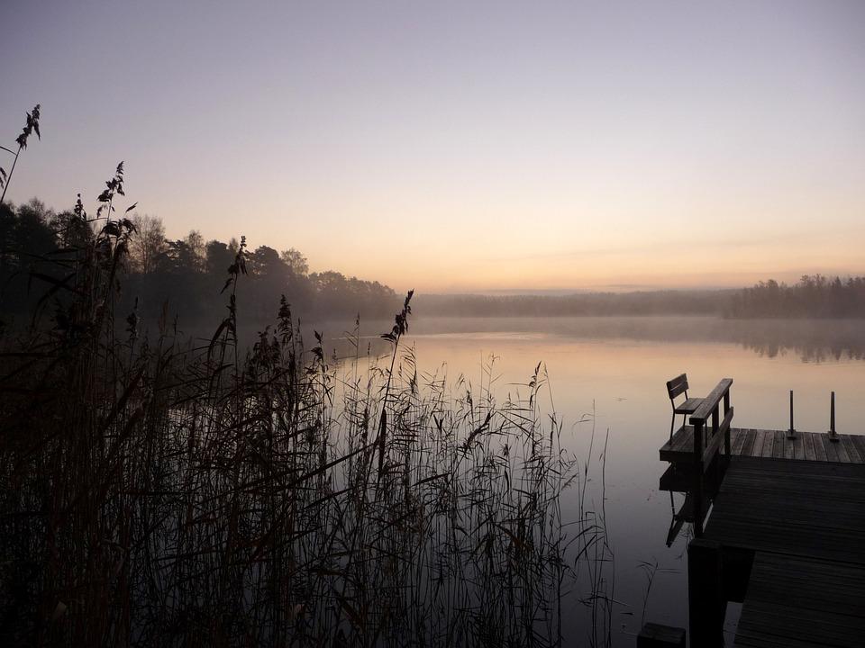 Lake, Dawn, Morning, Views, Sunrise