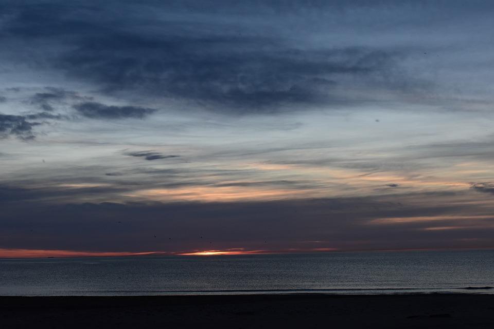 Dawn, Sea, Sunrise, Landscape, Sky
