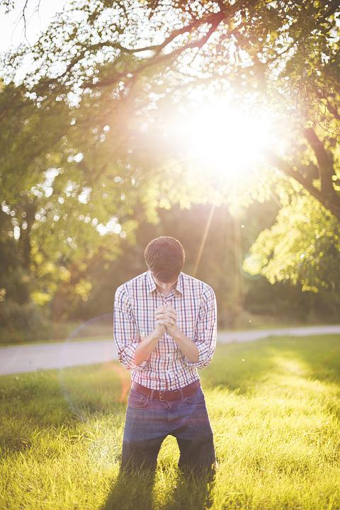 Dawn, Daytime, Grass, Kneeling, Landscape, Love, Man