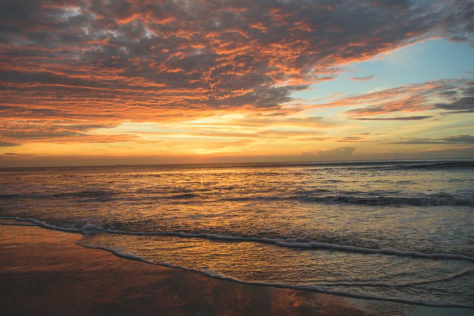 Beach, Cloudy, Coast, Dawn, Dusk, Horizon, Nature
