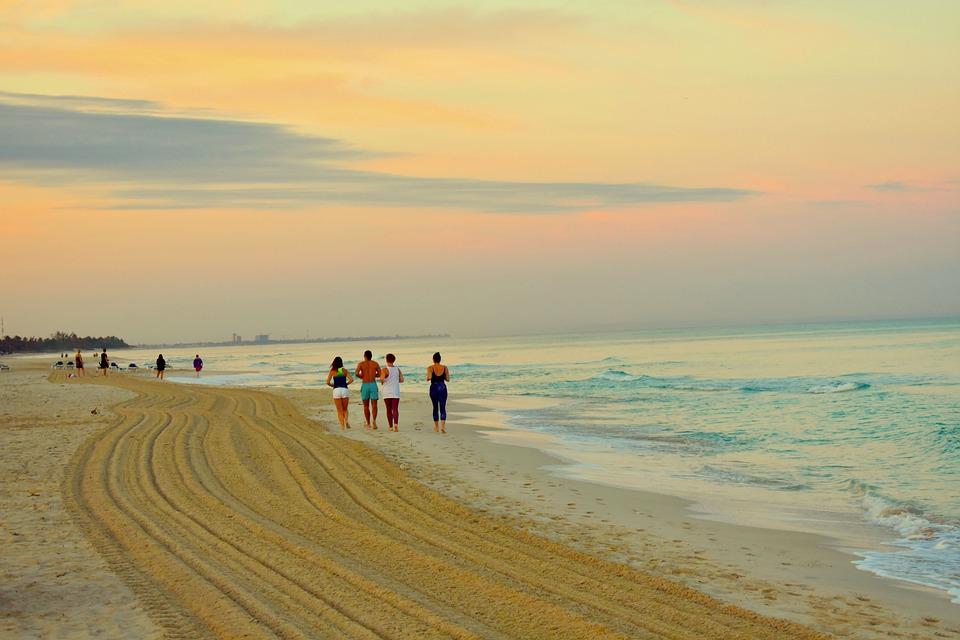 Sea, Ocean, Beach, Dawn, Run, Cuba