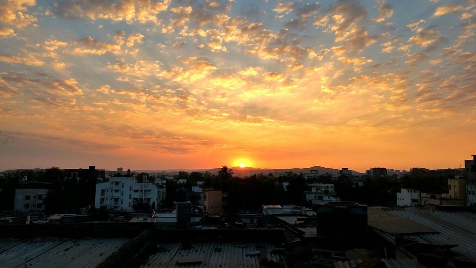 Sunset, Panoramic, Dawn, Dusk, Nature, Fair Weather