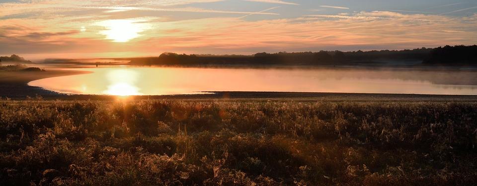 Panoramic, Body Of Water, Dawn, Sky
