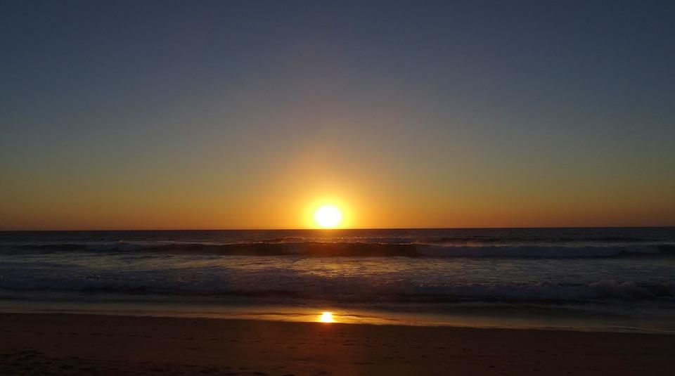 Sunset, Sun, Water, Dawn, Dusk