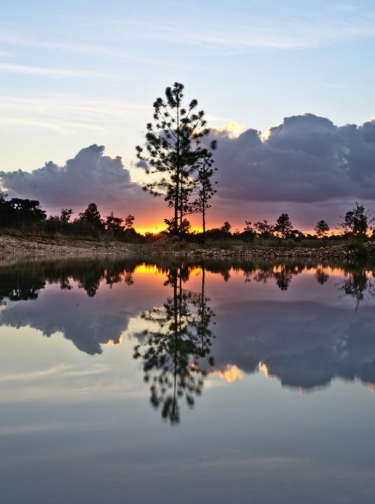Water, Sunset, Dawn, Nature, Lake, Landscape, Sky, Sun