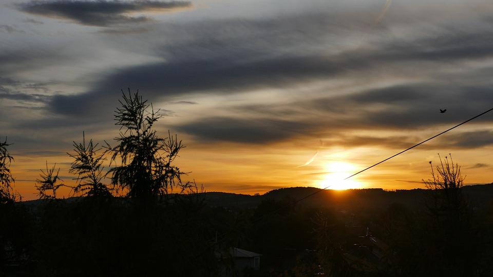 Sunrise, Dawn, Sky, The Horizon, Nature, Clouds, Blue