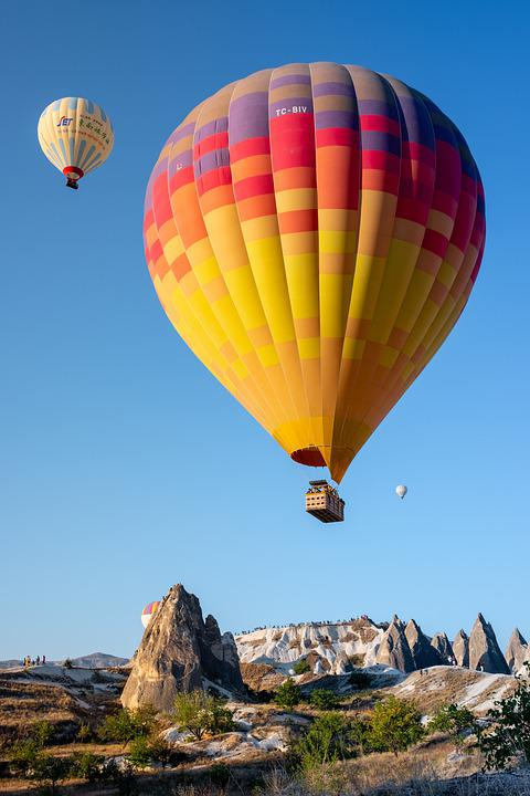 Hot Air Balloons, Dawn, Sunrise, Cappadocia, Balloon