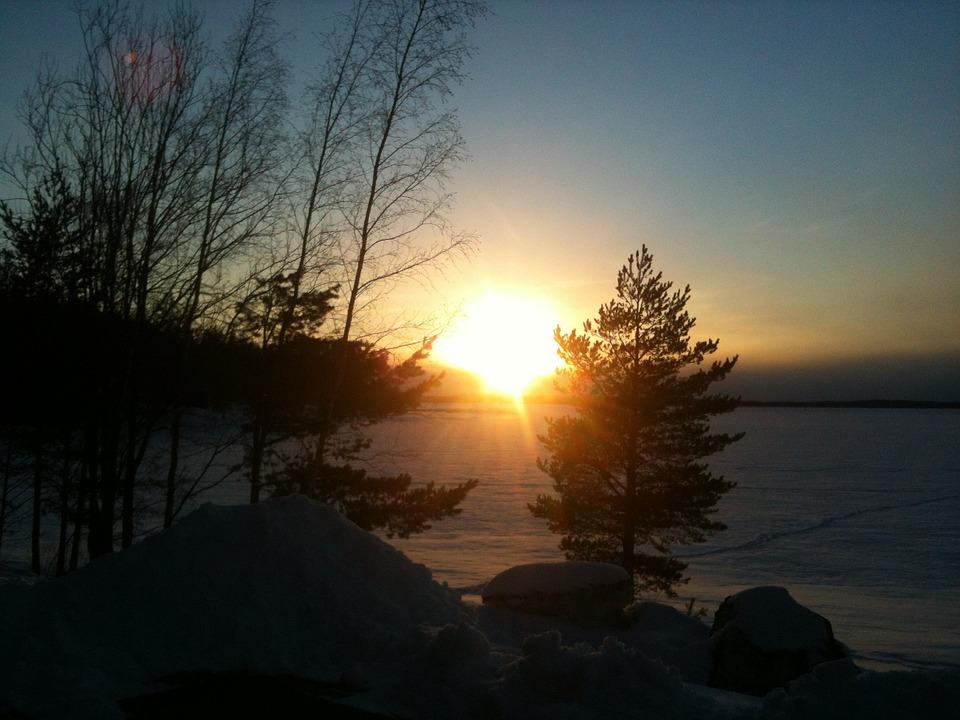 Sunset, Winter, Shadow, Dark, Dawn, Light, Evening