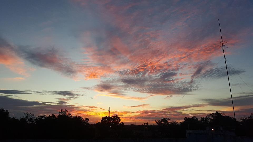 Sunset, Dawn, Nature, Panoramic, Landscape