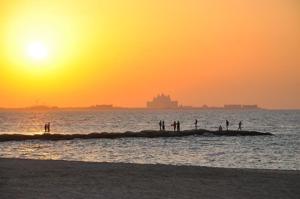 Dubai, Uae, Day And Night, United Arab Emirates