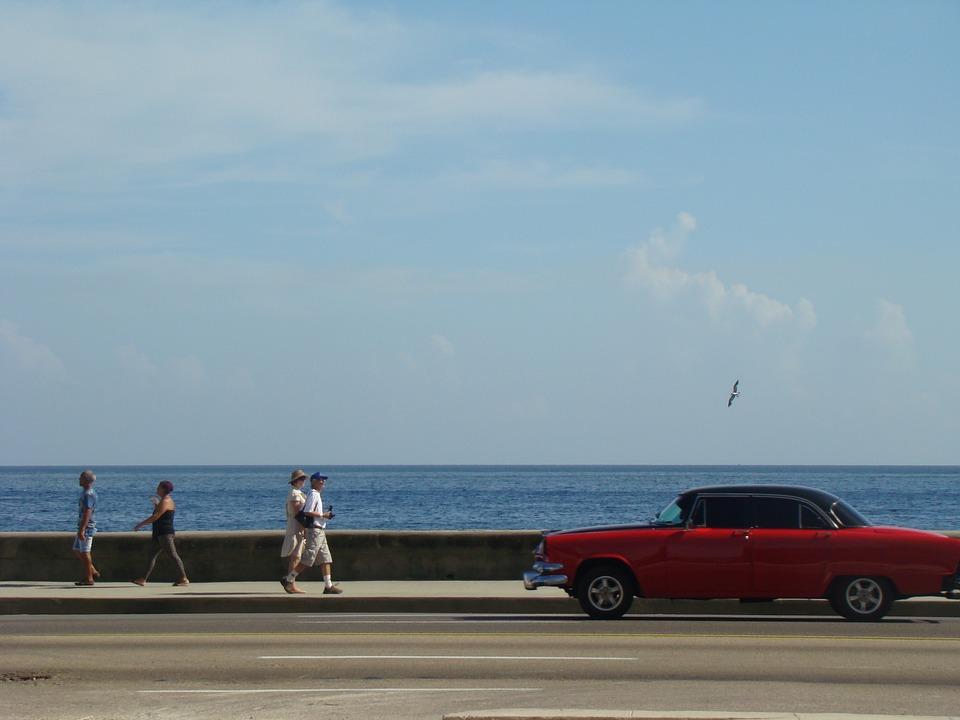Sun, Sky, Cloud, Car, Beach, Cuba, Sunlight, Day