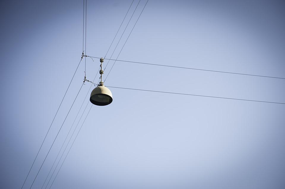 Lamp, Cable, Air, City, Light, Street, Day