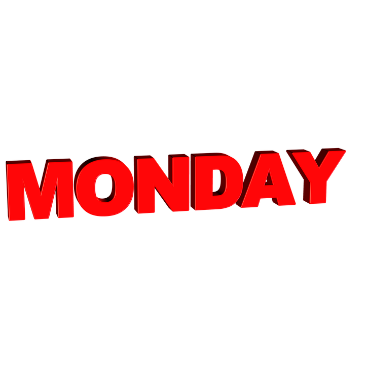 Monday, Day, Week, Calendar, Word, Text