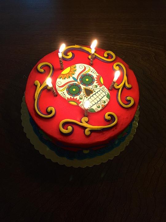 Free Photo Day Of The Dead Celebration Dia De Los Muertos Cake Max