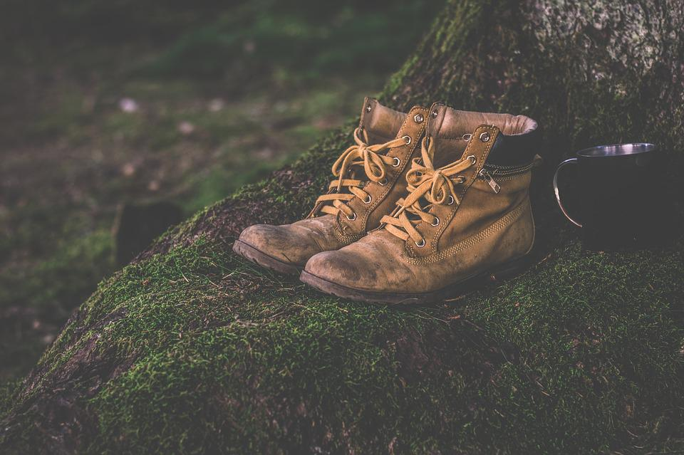 Boots, Cup, Daylight, Footwear, Grass, Hiking