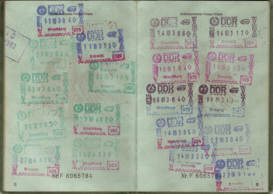 Passport, Transit, Visa, Ddr, Federal Republic Of