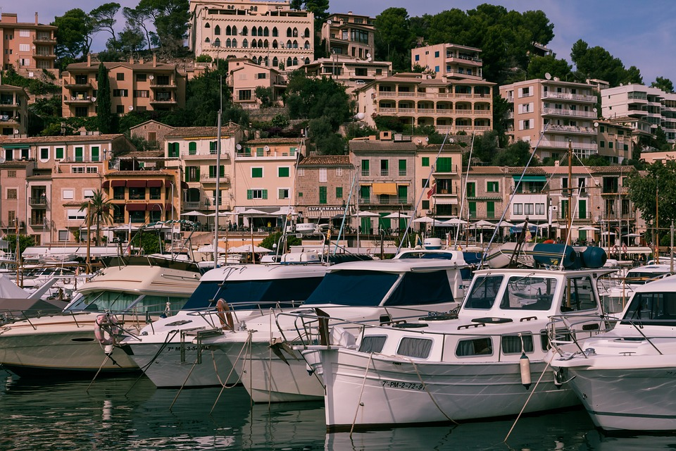 Sóller, Port, De, Mallorca, Sea, Coast, Spain, Boats